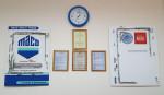 Стенд Сертификаты на фурнитуру, профиля и комплектующие окон предприятия ИП Туриев